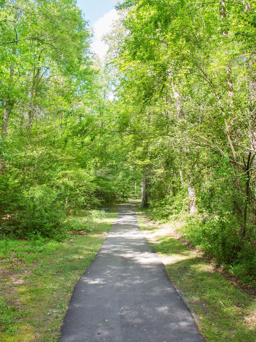 Paved river path